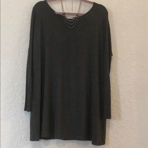 Reborn J long sleeve grey tunic shirt: SIZE M/L